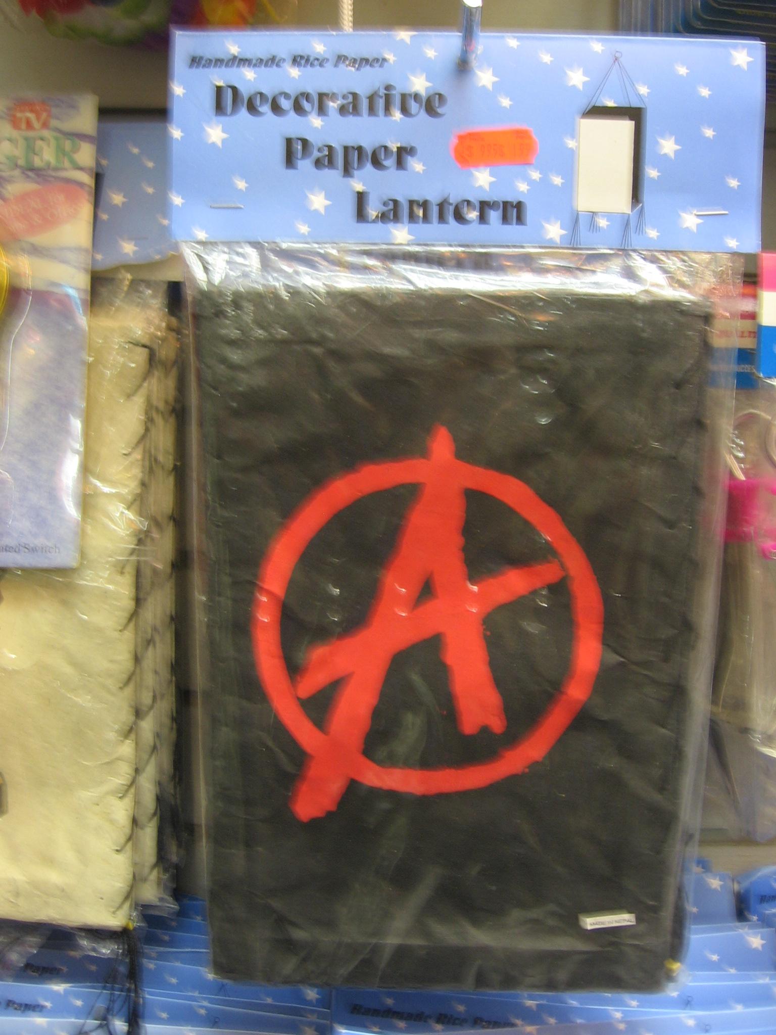 Anarchy paper lantern