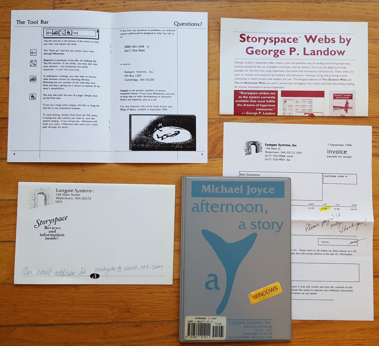 'Afternoon, A Story' package