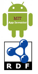 App Inventor and RDF logos