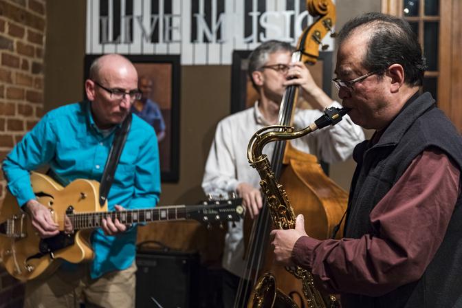 Jaye, Bob, and Victor of Jazz Collective \#9