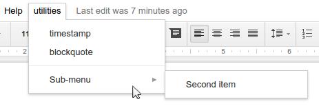 Google apps menu