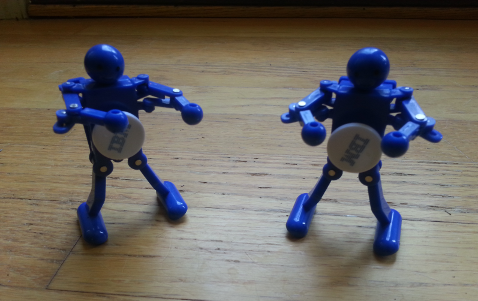 windup IBM schwag robots