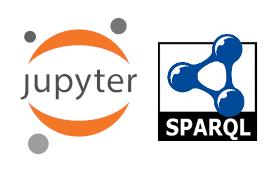 Jupyter and SPARQL logos