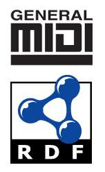 MIDI and RDF logos