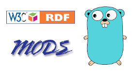 RDF, MODS, and Go logos
