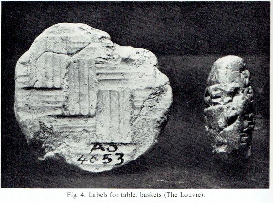 Cuneiform tablet basket labels